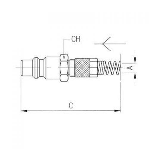 medidas adaptador tubo con muelle