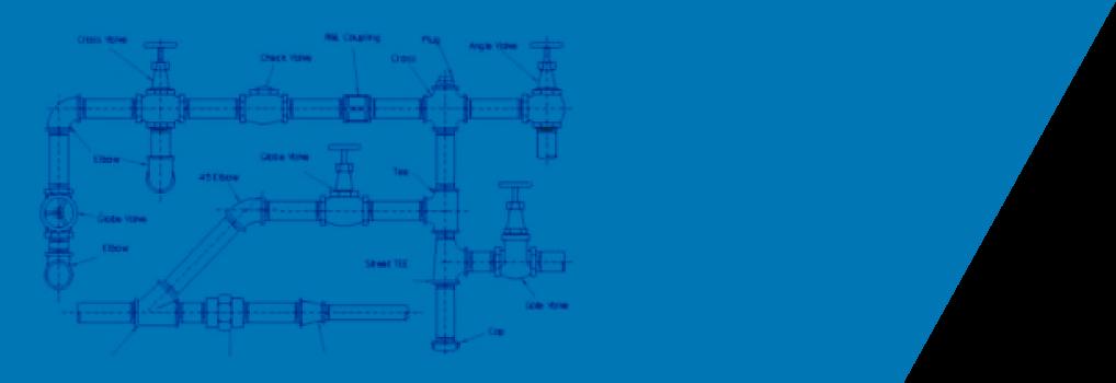 fondo banner tuberías azul jender